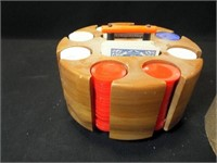 Poker Card Wood Carousel