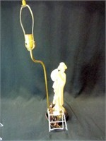"Electric Lamp, Asian Figure, 28"""