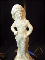 "Electric Lamp, Victorian Figures, 32"" (2)"