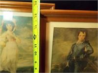 Framed Prints (3), Lamp, Frame