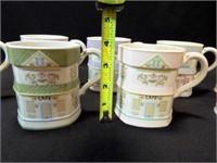 Lennox Village Mugs, 1992 (8)