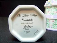 Lennox Village Butter Dish, Candleholders