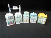 Lennox Village Spice Jars, 1989 (5)