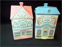 Lennox Village Canisters, 1990 (2)