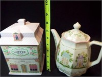 Lennox Village Canister, Coffee Pot (2)