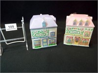 Lennox Village Canisters, 1993 (2)