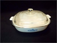 Fire-King Blue Bowl, Cornflower Casserole
