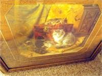 """Kitten Print, Framed, 28""""x 25"""""""