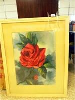 """Red Roses, Framed, 38""""x 30"""""""
