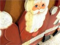 Wood Santas (4), Lights, Towels