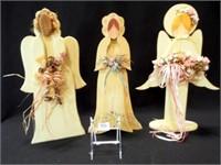 Folk Art Wood Angels (3)