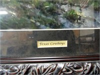 "G. Harvey, ""Texas Cowboy"", framed"