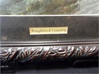 "G. Harvey, ""Roughneck Country"", framed"