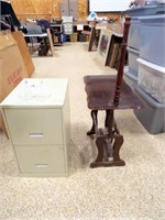File Cabinet, Wood Table