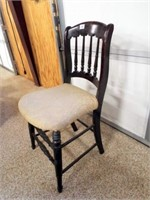 Wooden Chair, Upholstered Seat