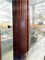 Wood Display Cabinet, Glass Shelves