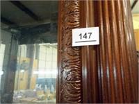 Wood Display Cabinet, Glass Shelves