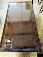 Wood Coffee Table, Glass Top
