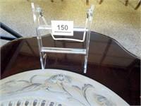 """Antique Glass Light Fixture, 16"""""""