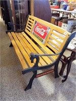 Cocal Cola Wood/Metal Bench