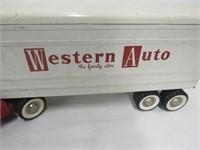 Structo Western Auto Truck + Trailer