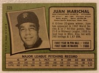 Juan Marichal 1971 Topps vintage baseball card
