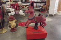 COIN OP DONKEY RIDE TOY (WORKS & PLAYS MUSIC)