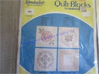 QUILT BLOCKS TO EMBROIDER
