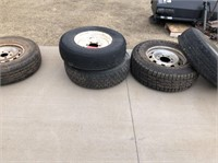 5 Tires. Variety. Three with good tread