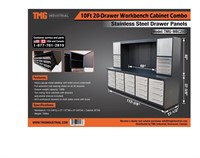 10' 20 Drawer Workbench Cabinet Combo