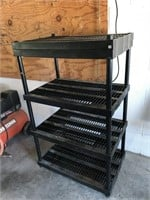 4 Shelf Plastic Shelving Unit