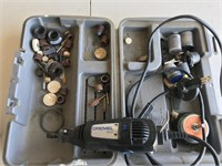 Dremel 100 w/ Carrying Case & Attachments