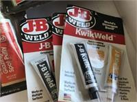 3 JB Weld Kits & 3 Bando Glazing & Spot Putty