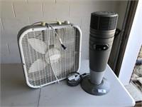 Lasko Box Fan & Lasko Heater