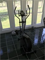 Gold's Gym Elliptical Trainer & Free Weights