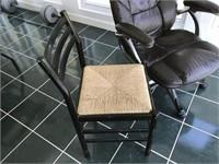 Office Chair & Black Rush Bottom Side Chair
