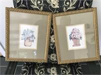 2 Matching Floral Prints