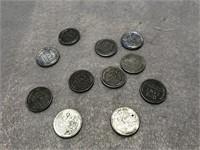 11 Wartime Steel Pennies