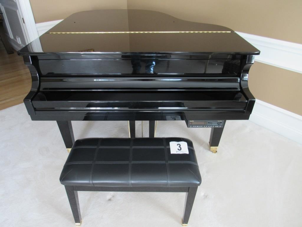 Wurlitzer Baby Grand Player Piano with Stool &