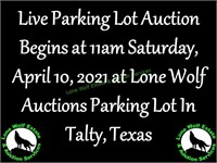 Talty 343P - LIVE Ole Fashion Parking Lot Auction