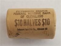 Bank Roll 1964-P BU Kennedy Silver Halves