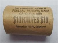Federal Reserve Bank Roll 1964-P BU Silver Halves