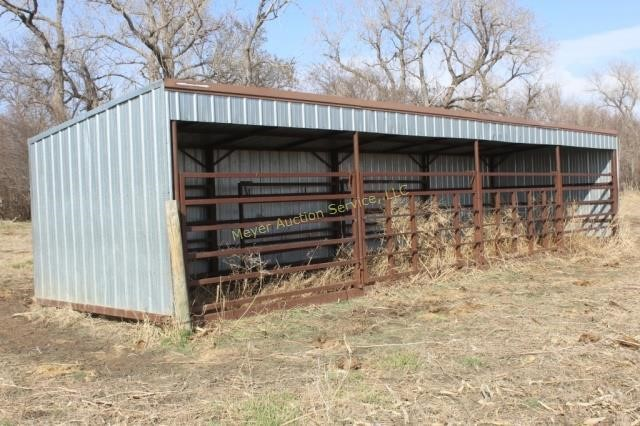 10x40 Calf Shed with 4 10x10 pens