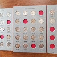 US Coin Album 64 Silver Quarters & 1965 Quarter