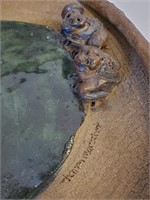 """Sharon Merschat Paintings & 10"""" Frog Plate"""