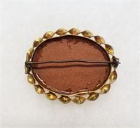 Vintage Goldstone Jewelry Stickpins Locket & More