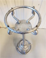1930s Hammered Aluminum Wine Bucket & Other Pieces