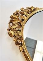 Vintage Hollywood Regency Gold Vanity Accessories