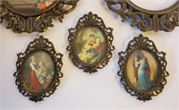 Assorted Vintage Italian Metal Framed Pictures
