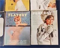 EIGHT 1963 PLAYBOY Magazines w) Centerfolds